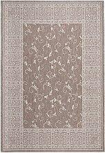 Carpeto Sisal Teppich Taupe 60 x 200 cm Ornamente