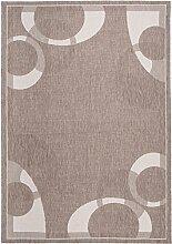 Carpeto Sisal Teppich Taupe 80 x 150 cm Kreis