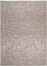 Carpeto Sisal Teppich Taupe 80 x 150 cm Vintage
