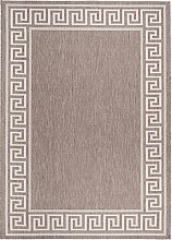 Carpeto Sisal Teppich Taupe 80 x 200 cm Bordüre