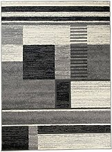 Carpeto Teppich Modern Grau 80 x 150 cm