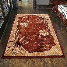 Carpeto Teppich Wohnzimmer Braun mit Klassisch