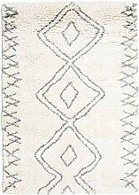 CarpetVista Berber Shaggy Massin Teppich 140x200
