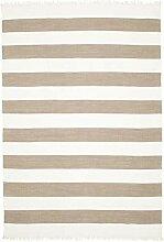 CarpetVista Cotton Stripe - Braun Teppich 250x350