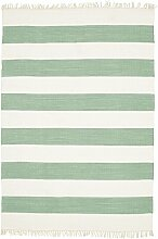 CarpetVista Cotton Stripe - Mint Teppich 140x200