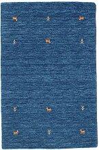 CarpetVista Gabbeh Loom - Blau Teppich 100x160