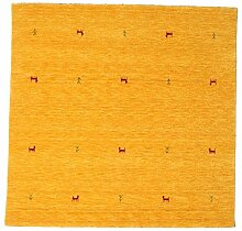 CarpetVista Gabbeh Loom Two Lines - Gelb Teppich