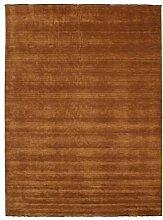 CarpetVista Handloom fringes - Braun Teppich