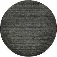 CarpetVista Handloom - Schwarz/grau Teppich Ø 250
