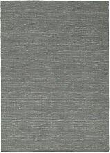 CarpetVista Kelim loom - dunkelgrau Teppich