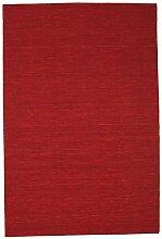 CarpetVista Kelim loom - dunkelrot Teppich 200x300