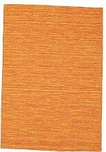 CarpetVista Kelim Loom - Orange Teppich 140x200