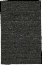 CarpetVista Kelim loom - Schwarz Teppich 100x160