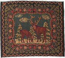 CarpetVista Kelim Rosen Moldavia Teppich 185x207