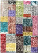 CarpetVista Patchwork Teppich 141x200 Moderner
