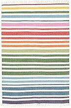 CarpetVista Rainbow Stripe - Weiß Teppich 120x180