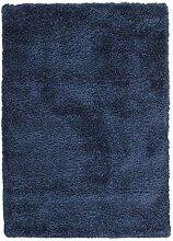 CarpetVista Shaggy Sadeh - Blau Teppich 120x170