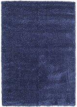 CarpetVista Shaggy Sadeh - Blau Teppich 140x200