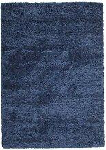CarpetVista Shaggy Sadeh - Blau Teppich 160x230