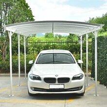 Carport aus Aluminium weiß 3x5,76m & Polycarbonat