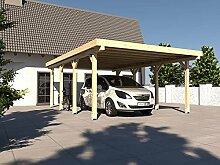 Carport Flachdach AVUS X 500 x 600 cm KVH Bausatz Konstruktionsvollholz Fichte