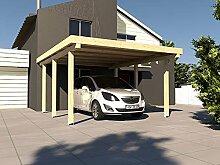 Carport Flachdach AVUS XIII 400 x 500 cm KVH Bausatz Konstruktionsvollholz Fichte