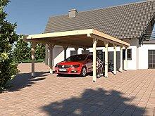 Carport Flachdach AVUS XV 400 x 800 cm KVH Bausatz Konstruktionsvollholz Fichte
