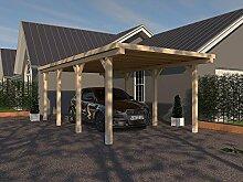 Carport Flachdach AVUS XVIII 300 x 600 cm KVH Bausatz Konstruktionsvollholz Fichte