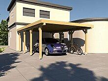 Carport Flachdach SILVERSTONE XIV 400x600 cm Bausatz Flachdachcarpor