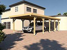 Carport Flachdach SILVERSTONE XV 400x800 cm Bausatz Flachdachcarpor