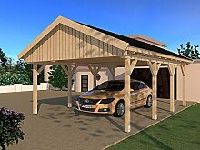 Carport Satteldach LE MANS V 500cm x 600cm KVH Bausatz Konstruktionsvollholz Fichte