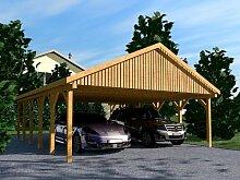Carport Satteldach MONACO IV 600x900cm Leimbinder Fichte