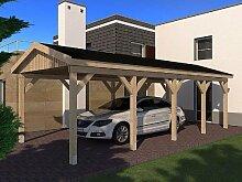 Carport Satteldach MONACO VIII 350cm x 800cm Leimbinder Bausatz Fichte