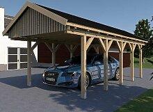 Carport Satteldach MONACO X 400cm x 700cm Leimbinder Bausatz Fichte