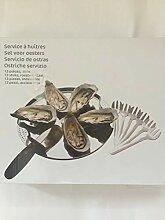 Carrefour Austern Set Geschirrset aus 6 Tellern, 6
