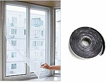 Carreguard Insektenschutz Fenster mit Magnetband für Fenster zum Öffnen und Schließen 1,3 x 1,5m (Weiß)