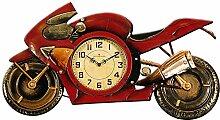 Carrick Design Motorrad Wanduhr, rot/Gold