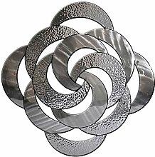 Carrick Design Wanddekoration, Metall, Silber,