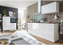 Carryhome Küchenblock in Weiß E-Geräte, Spüle,