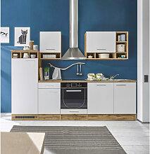 Carryhome Küchenleerblock , Weiß, Eiche, 280 cm