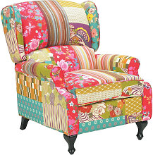 Carryhome OHRENSESSEL , Mehrfarbig , Patchwork ,