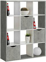 Carryhome RAUMTEILER Grau, Weiß , 110x146x34 cm