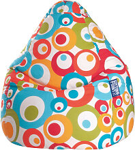 Carryhome SITZSACK Kreise Multicolor , Türkis,