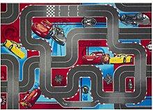 Cars 640019Fußmatten, Velours, Rot/Grau, 133x 95x 1,5cm