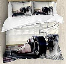 Cars Bettbezug-Set, 4-teilig, Dragster Racing Down