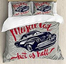 Cars Bettwäsche-Set 4-teilig, Hot as Hell Muscle