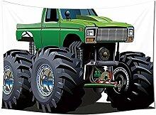 Cars Decor Wandteppich für Giant Monster Pickup