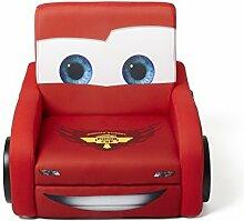 Cars Kindersessel mit Holzrahmen (Rot)