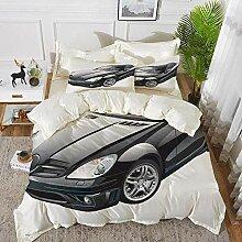 Cars, schwarzes modernes Sportwagen-Bettbezug-Set