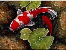 Carsilers Volle Quadratische/Runde Rote Koi Fische